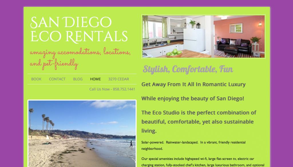 San Diego Eco Rentals Home Page
