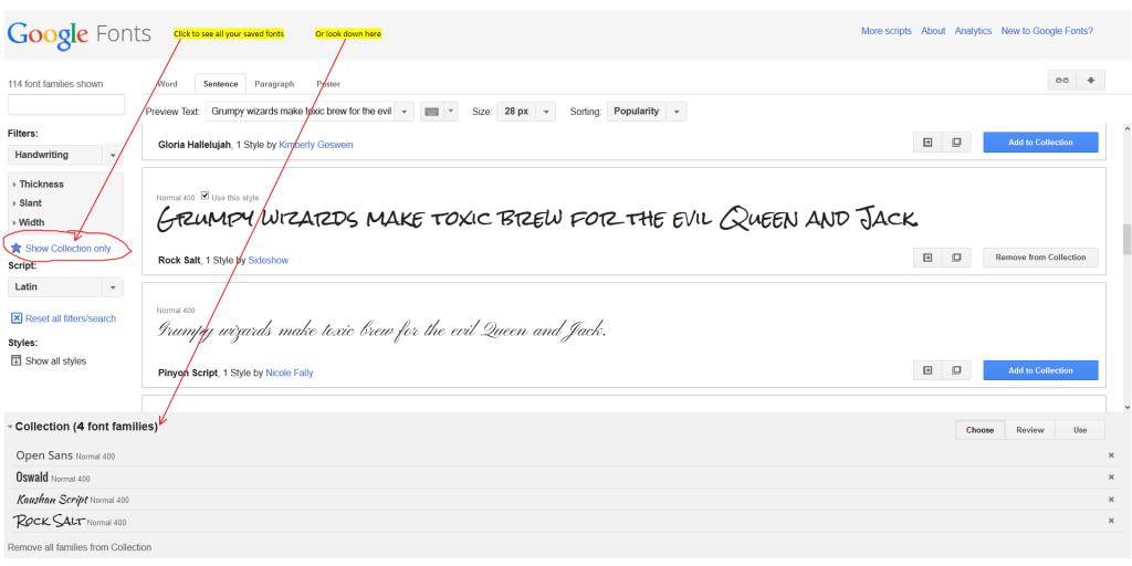 Google Fonts Step 2